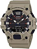 CASIO Herren Analog – Digital Quarz Uhr mit Resin Armband HDC-700-3A3VEF