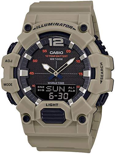 CASIO Herren Analog – Digital Quarz Uhr mit Resin Armband HDC-700-3A3VEF