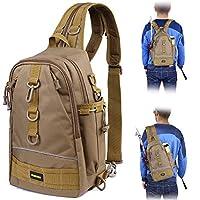 PLUSINNO Fishing Tackle Backpack Storage Bag?Outdoor Shoulder Backpack?Fishing Gear Bag?Water-Resistant Fishing Backpack with Rod Holder-TQS