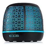 Odoga 500mL Aromaterapia Diffusore di Oli Essenziali, Umidificatore a Ultrasuoni con 7 Colori LED...