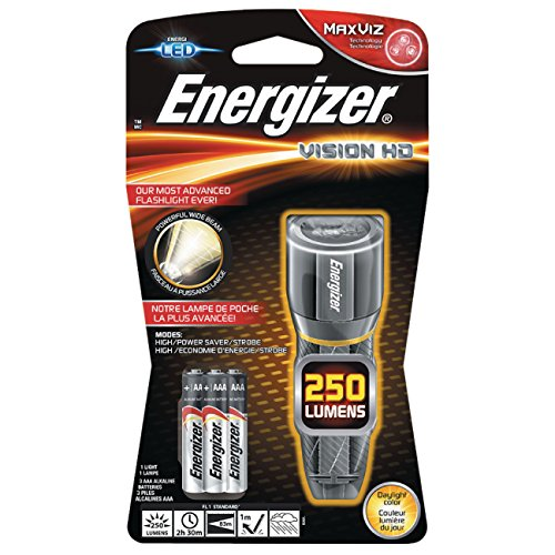 Energizer Lampe de Poche LED Vision HD Metal 3 Piles AAA 250 LM 11 H 133 g
