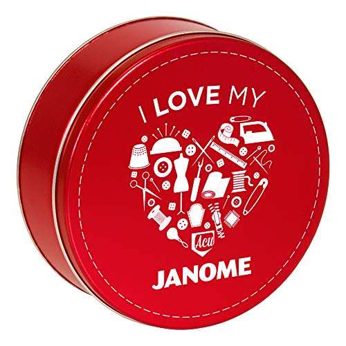 Best Prices! Janome JATHREADTIN Collector's tin Thread Pack, Red 31 Pack