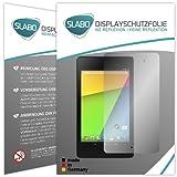 Slabo 2 x Bildschirmschutzfolie Asus Google Nexus 7 FHD (2. Generation - 2013) Folie No Reflexion|Keine Reflektion MATT-Entspiegelnd Made IN Germany