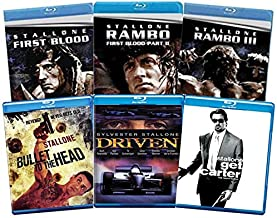 Sylvester Stallone 6-Film Blu-ray Collection: First Blood / Rambo: First Blood Part II / Rambo III / Driven / Get Carter /...
