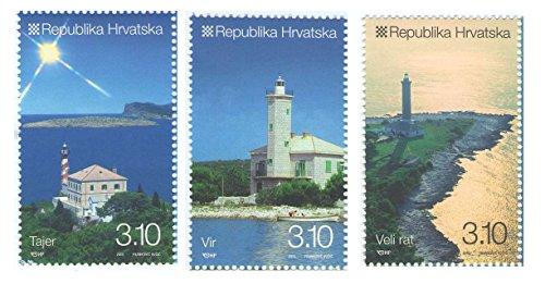 Leuchttürme Kroatien / 3er-Set offizielle Briefmarken 2010 - Scott # 781-783 / Kroatien/MNH