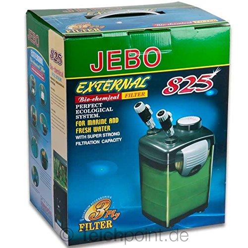 Aquarium Außenfilter JEBO 825, Aquariumfilter für Aquarien bis max. 250 Liter
