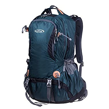 G4Free 50L Outdoor Backpack Camping Climbing Hiking Backpack For Backpacker Unisex Bag with Rain Cover(Dark Green)