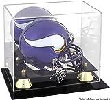 Minnesota Vikings Golden Classic Mini Helmet Display Case - Football Mini Helmet Free Standing Display Cases