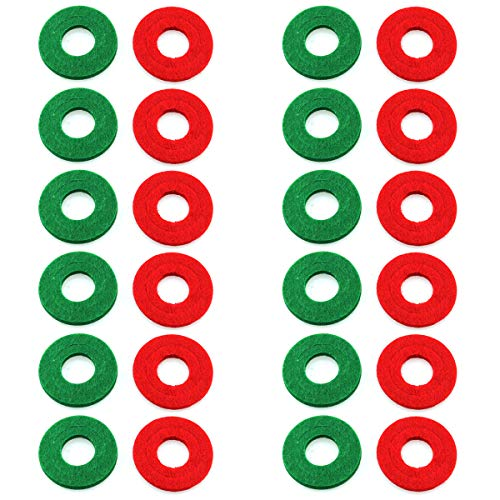 DGZZI 12Pairs Red and Green Battery Terminal Protector Pads Fiber...