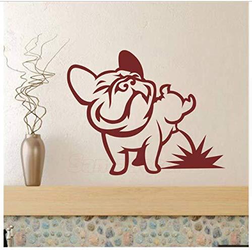 Cane Pissing Wall Stickers Francese Bulldog Vinyl Wall Art Murale Decalcomania Soggiorno Auto Tablet Wallpaper Camera Dei Bambini Home Decor 30 * 40 Cm 2 Pz