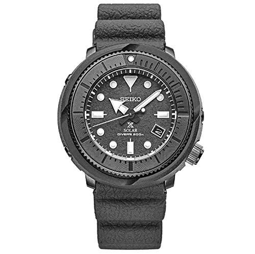 SEIKO Prospex Street Sports Solar Diver's 200M Gray Dial with Silicone Band Watch SNE537P1