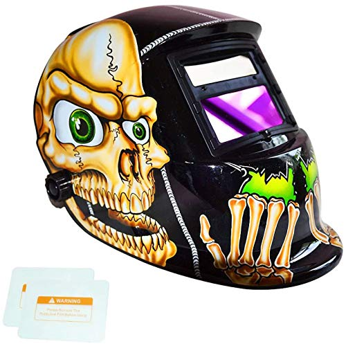 Product Image of the TEKWARE Welding Helmet Solar Power Auto Darkening Hood Welder Mask Breathable Grinding Helmets with Adjustable Shade Range