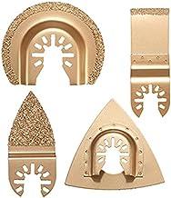 ChaRLes 4 stuks Carbide groutmessen set oscillerende multitool zaagbladen voor Dewalt Stanley Black Decker Bosc
