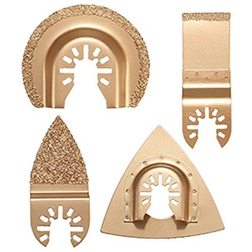 ChaRLes 4Pcs Carbide Groutklingen Set Oszillierende Multitool Sägeblätter Für Dewalt Stanley Black Decker Bosc