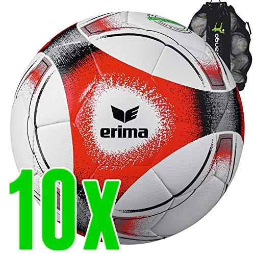 Sarango Sport Erima Hybrid Training Fussball 10er Ballpaket inkl. Ballsack NEU, Wähle Deine Größe:4