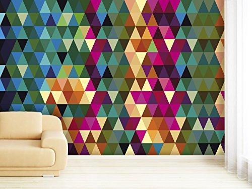 XXL-Tapeten Papier Peint Photo Papier Peint intissé Triangle Pattern comme Papier ou – Différentes Tailles au Choix, Papier Peint intissé, 420x270cm