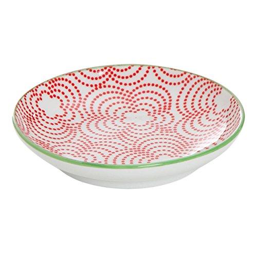 Ritzenhoff & Breker Makina Ciotola bassa, Coppetta, Scodella, Porcellana, Rosso, Ø 10 cm, 038873
