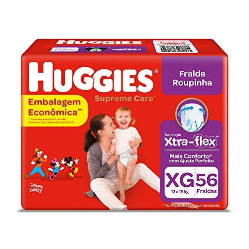 Huggies Fralda Supreme Care Roupinha BAG XG, 56 Fraldas, Huggies