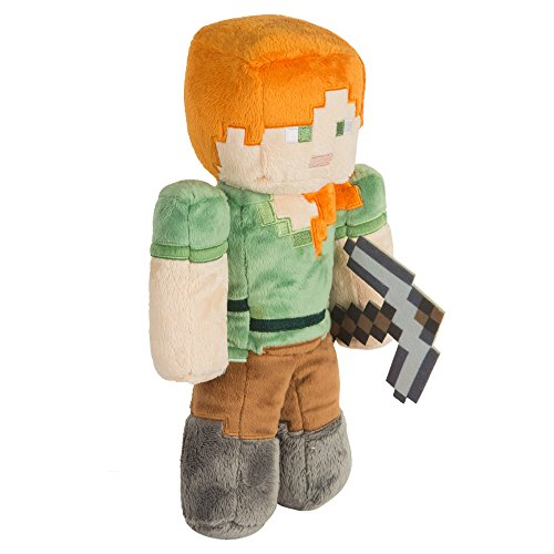 JINX Minecraft Alex Plush Stuffed Toy, Multi-Colored, 12' Tall