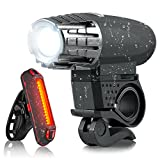 AD Bike Lights Set - USB Rechargeable LED Bicycle Front and Back Light - Bike Headlights and Tail Lights for Mountain Bike Road Bike and Kid Bike - Safety Light Kit Fits for Hybrid MTB BMX Bike