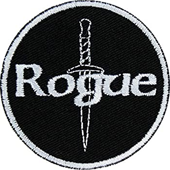 D&D Rogue Patch Iron On Applique - Gray Black - 2.5  Circle - Made in The USA
