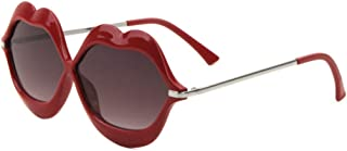 Smooch Kiss Bold Lips Oversized Sunglasses