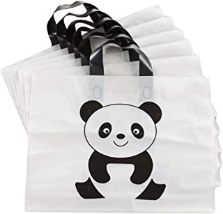 Panda - 50 Pieces Plastic Boutique Shopping Bags Merchandise Tote Bags Gift Bags