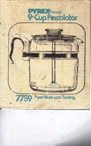 Vintage Pyrex 7759 9-cup Flameware Glass Coffee Maker-percolator