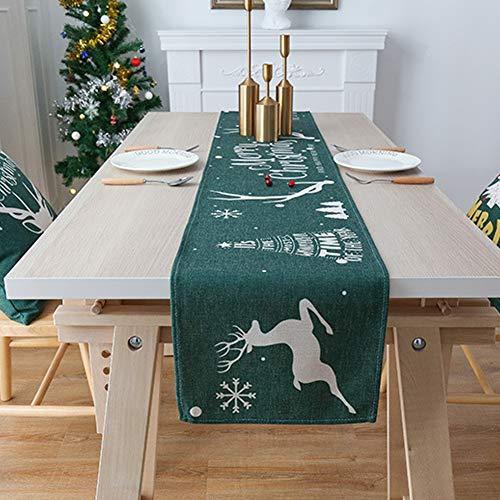 Bongles Navidad Camino De Mesa Lavable Impreso Mantel En Fuentes De Días Festivos De La Decoración Reuniones Cena