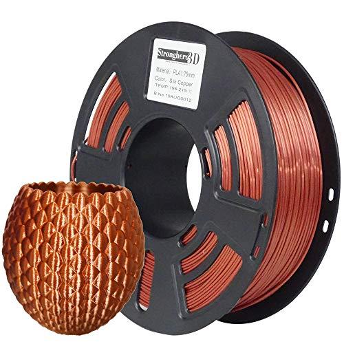 Stronghero3D Desktop FDM 3D-Drucker 1,75 mm PLA-Filament Seidenkupfer 1 kg (2,2 lbs) Abmessung Genauigkeit +/- 0,05 mm