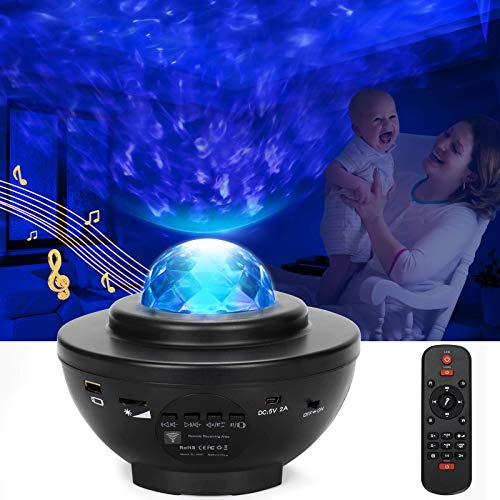 Starry Night Light Projector,A Star Night Light with Led Galaxy Light Projector,Remote Control,Auto Timer and Bluetooth Music Speaker,Night Light for kids Bedroom Deal Gifts Home Party and more