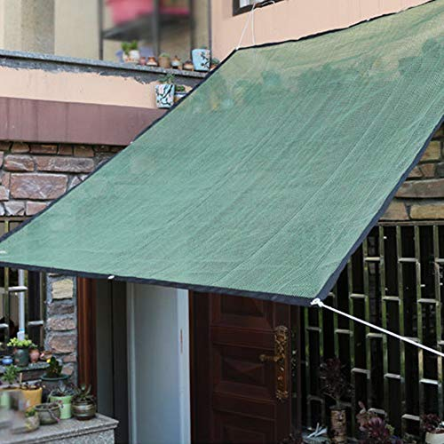 Mokia Sonnenschutznetz, fleischig, Blume, Balkon, Hof, Schattenspender, gepolsterter Sonnenschutz, nicht null, Dunkelgrün-1 x 1,8 m, 1x1.8m