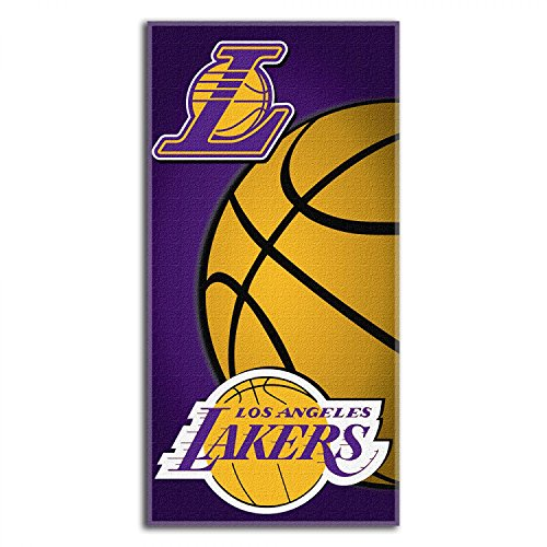 Los Angeles Lakers NBA Royal Plush Raschel Blanket (700 Series) (50x60 )