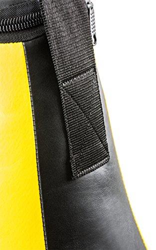 Profi Vinyl Maisbirne large gefüllt Vinyl Maisbirne im 8 Elementen Design inkl. Nylon-Aufhängung schwarz / gelb Abbildung 3