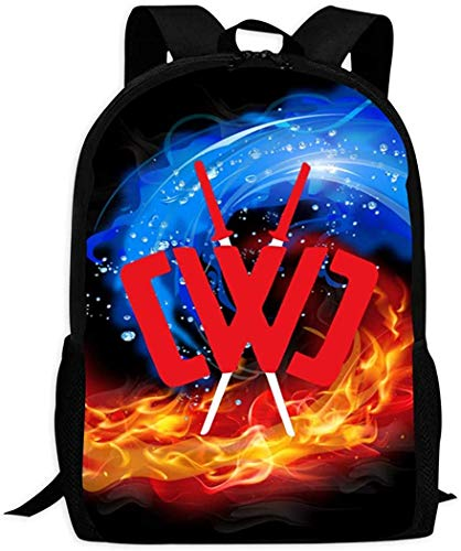 CHICLI School Book Bag Unisex Youth Backpack Shoulder 3D CWC Chad_Wild_Clay College Student Travel Laptop Backpack