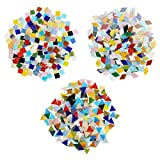 Belle Vous Teselas Mixtas en 3 Formas (Pack de 600/480 g) Diamantes (2x1,2 cm) Triángulos (1,5x1,5x1,5 cm) Cuadrados (1x1 cm)- Mosaicos Manualidades Variados Decoración del Hogar - Kit Mosaico Teselas
