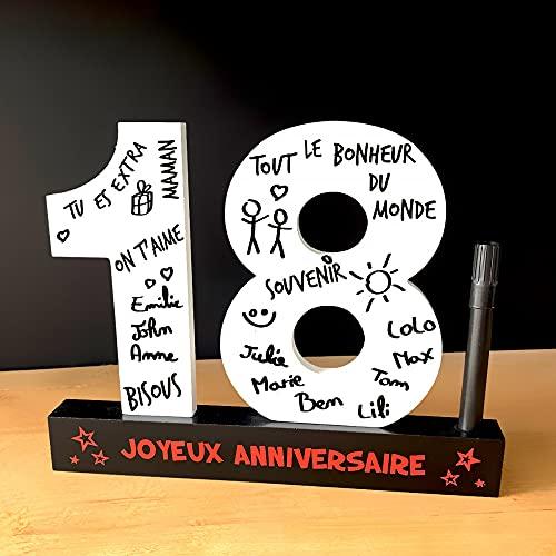 P2G - Dédicaces 3D anniversaire 18 ans - 23 x 29 cm