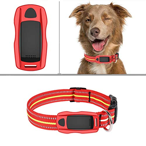 ZEERKEER Pet GPS Tracker, Dog GPS Tracking and pet Finder, The GPS Dog Collar Attachment, Locator Waterproof, Tracking Device for Dogs, Cats, Pets Activity Monitor(Red)