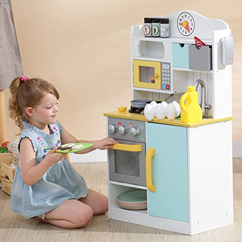 Teamson Kids Florence Wooden play Kitchen is a high quality play kitchen for kids
