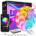 40 Feet Led Strip Lights, ViLSOM Smart APP Control with Remote Music Sync Led Lights for Bedroom, Room, Ceiling, Party, Home Decoration with Bright 5050LED 16 Million Colors RGB Light Strip