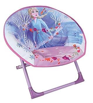 FUN HOUSE Disney Reine des NEIGES 713198 Siège Lune Pliant Fille, Violet/Blanc, pour Enfant