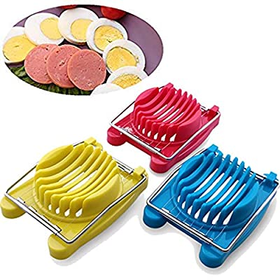 Hiriyt Durable Practical Kitchen Stainless Steel Boiled Egg Cutter Slicer Outdoor Cooking Tools & Accessories