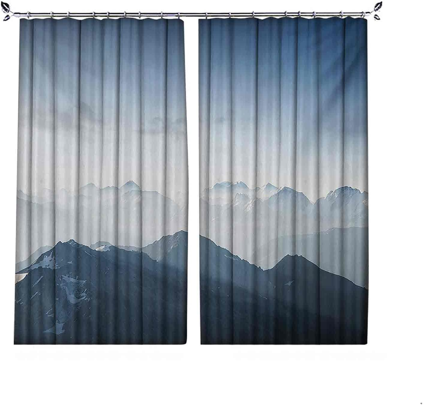 90% Blackout Mountain Excellence Curtains Foggy Morning Mou Rock in Scenic Now on sale