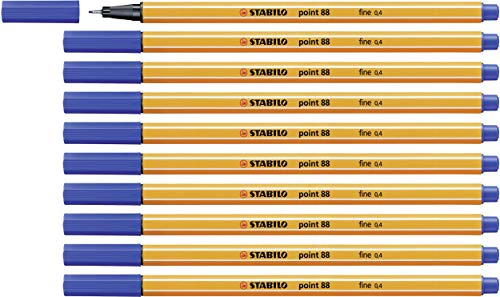 Fineliner - STABILO point 88 - 10er Pack - blau