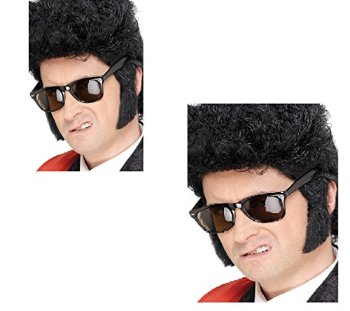 Volwassen Teddy Jongen Zijbrandwonden voor 50's Rock n Roll Elvis Wolverine Fancy Dress Kostuum Accessoire GRATIS Specs 344