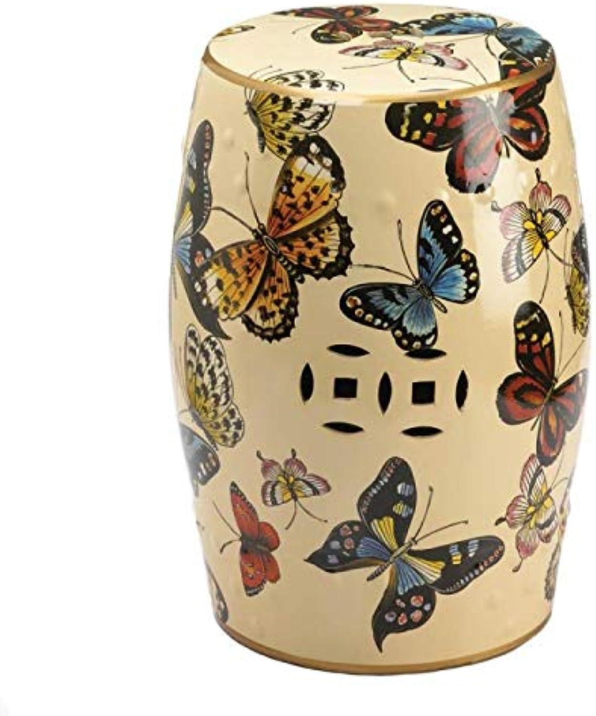 Accent Plus 10018737 Butterflies in Flight Decorative Stool Multicolor