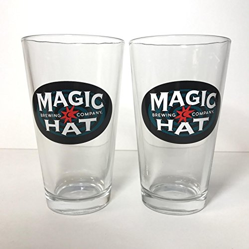 Magic Hat Brewing Company - 16 Ounce Pint Glass - Set of 2