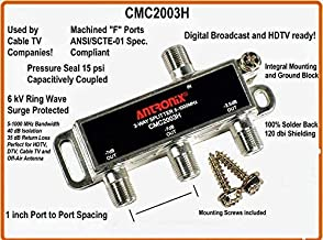 Antronix CMC2003H 3-Way- (3) Pack - Horizontal Splitter (1) -3.5 Port and (2) -7dB 5-1002 MHz High Performance Profession Quality for Coax Cable TV & Internet Factory Sealed with Screws