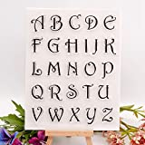 YULEKITO Beautiful Alphabet Letters Clear Stamps for Card Making Decoration DIY Scrapbooking