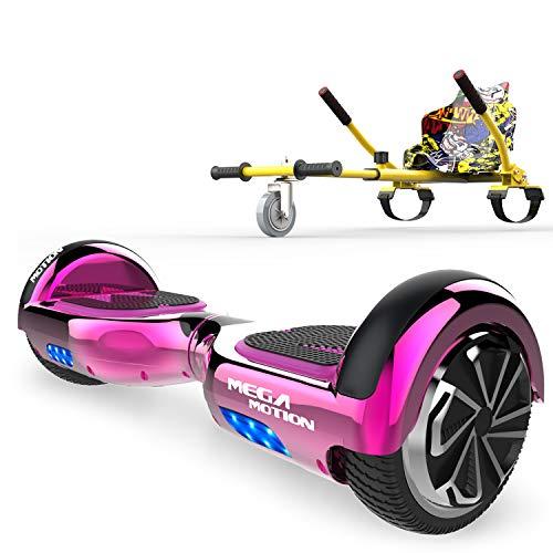 SOUTHERN-WOLF Hoverboard, Self Balance Scooter con Hoverkart, Auto Bilanciamento Scooter 6.5 Regalo per Bambini e Adulti Overboard